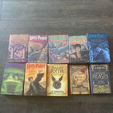HARRY POTTER Complete 1st Edition Hard Cover Set 1-8 Full Set! 2 Bonus Books!!!