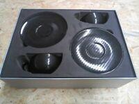 Porsche Tee-Tassen Set in Carbonoptik