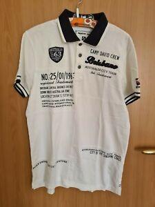 Poloshirt, Herren, Weiß, Größe M, Camp David