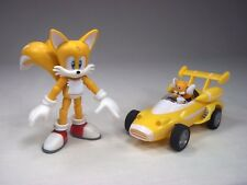 """Sonic the Hedgehog 3.5"""" Tails Jointed Action Figure Jazwares + All Stars Racing"""