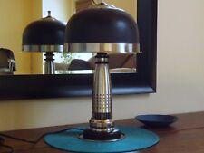 Art Deco Machine Age Mixed Metal Lamp