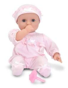 Jenna Doll Toy Mine to Love Soft Body Baby With Romper Melissa & Doug Gift 14881