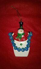 IRISH SNOWMAN CHRISTMAS ORNAMENT NOLLAIG SHONA HAPPY CHRISTMAS NEW