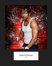 DEAN AMBROSE #1 (WWE) Signed 10x8 Mounted Photo Print - FREE DELIVERY