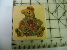 Boyds Bear Collection Uptown Rubber Stamp - Bailey .Hearts Desire