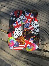 Fender Metal Guitar Pick Light Switch Cover Vintage Look, Metal Peace Rock & Rol