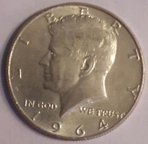 1964 P Kennedy Half Dollar 90% Silver Coin (from original rolls) Uncirculated