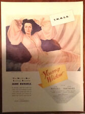 Jane Russell Young Widow film ad 1946 original vintage 40s print illustration
