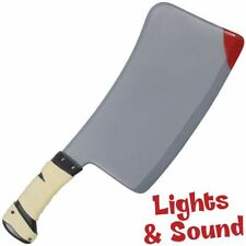 """HORROR CLEAVER 16"""" WITH LIGHT & SOUND FAKE GAG COSTUME TOY PROP STAGE HALLOWEEN"""