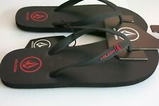 Volcom 8 Men's Rocker Sandal Black Red Surf Flip Flops Sandals Shoes NWT