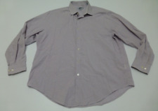 DKNY Mens 17 32/33 Slim Fit Multi Color Tiny Check Dress Shirt Great Condition