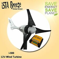 SET i-500 PLUS,12v WINDGENERATOR + HYBRID LADEREGLER iSTA-BREEZE®, BLACK EDITION