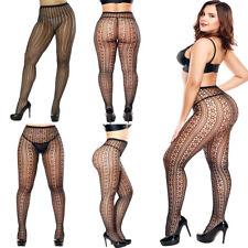 Sexy Pantyhose Socks Tights Women Fashion Fishnet Stockings Lace Sheer Plus Size