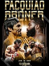 Manny Pacquiao vs Adrian Broner 4LUVofBOXING Boxing Poster BK 11x17 Pacman New