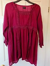 Women's Replace Dark Red Long sleeved Blouse, size 14