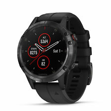 Garmin fenix 5 Plus 47mm Sapphire Multisport GPS Watch Black/Black Band