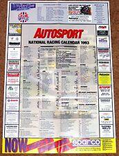 Autosport 1993 NATIONAL RACING CALENDAR - BTCC Club Meets F3000 FF1600 F1 F2 F3