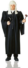 Black Supreme Court Judge Robe Men'S Halloween Cloak Costume