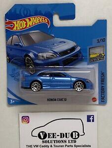 Hot Wheels Honda Civic Si Blue 2021 Hotwheels Short Card NEW