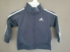 Adidas Boys Track Jacket Size 18 Months Gray Infant Toddler Full Zip