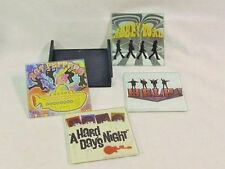 The Beatles Album Coasters All Glass Set of 4 with Tray Excellent Condition NICE
