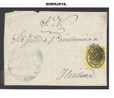 Frontal con sello. 1/2 onza. Huelma (Jaén). Tamaño 107 x 80 mm.