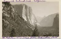 c1940 Railroad RPPC Yosemite National Park Half Dome Real Photo Postcard EKC