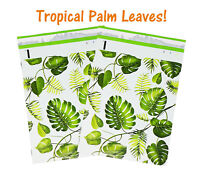 10x13 inch Tropical Palm Leaves Poly Mailers, USPS, FEDEX, Shipping Mailing Bags