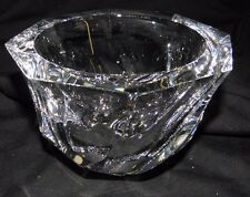Orrefors Eight sided Crystal Vase ~ signed on the bottom