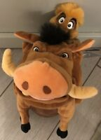 Peluche SET PUMBAA  / Ensemble Pumba TIMON 15 POUCES Disneyland Paris