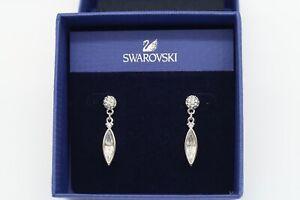 Swarovski Crystal Rhodium Plated Pierced Earrings 835000 Authentic BRAND NEW