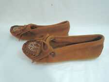 New Minnetonka 332 Studded Peace Suede Leather Moccassin Women's Size 5.5M