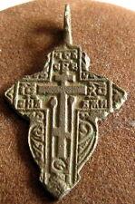 Attractive Antique 1600-1800s. Russian Orthodox Bronze Cross # 433