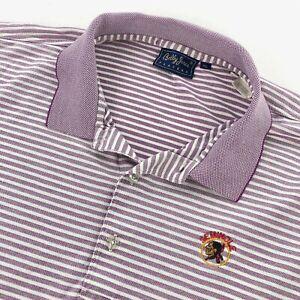 Seminole Golf Club Men's Bobby Jones Polo Shirt Purple White Stripes • XL