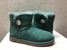 UGG MINI BAILEY BLING SWAROVSKI CRYSTAL ATLANTIC US 9 / EU 40 / UK 7.5 NIB