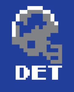 Detroit Lions Tecmo Bowl shirt Retro Nintendo Barry Sanders Super Football NES