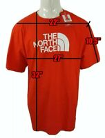 The North Face Tee T-Shirt Fiery Red | White Half Dome Logo | Men's 2XL XXL NWT