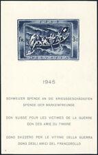 SCHWEIZ 1945, Block 11, tadellos postfrisch, gelbe Gummierung, Mi. 220,-