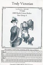 Motivi di sezione truly Victorian TV 460: 1885 CUIRASS bodice, MIS. a