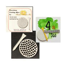 Golfing metal die set Golf Ball and Tee Frantic Stamper cutting dies