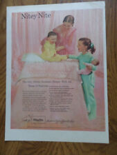 1951 Nitey-Nite Sleepers Ad  Mother Daughter & Baby Brother