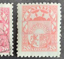 "Latvia, Latvija Sc 147 ""flesh""; Mi 121 II b  ""fleischfarben"" MNH** WZ- swastikas"