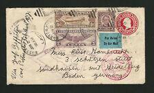 Scott # C14 Graf Zeppelin Cover, Round-The-World & South America Flight Cachets