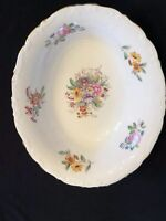 "VINTAGE COALPORT BONE CHINA  ""Fragrance"" SERVING BOWL FLORAL ARTIST SIGNED"