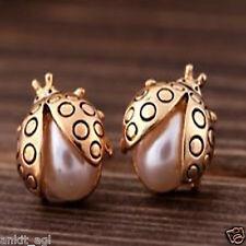 Stile Beautiful 18K Gold Plated Pearl Earrings Women