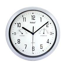 Wall Clock Mebus Ø26 Cm Temperature Hygrometer Office Watch Modern Quartz