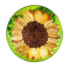 "Sunflower Bird Bath Bowl 18"""