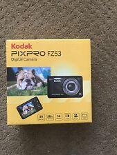 Kodak Fz53-bl Point and Shoot Digital Camera With 2.7 Lcd Blue. Box Has Wear
