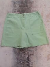 Larry Levine Womens Size 12 Lime Green Zip Flat Front Stretch Hiking Camp Shorts