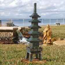 """Asian Temple 28"""" Eastern Pagoda Buddhist Art Sculpture Statue Garden Decor"""
